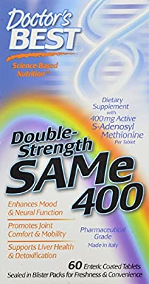 Doctor's Best SAM-e 400 mg (Double Strength), Enteric Coated Tablets