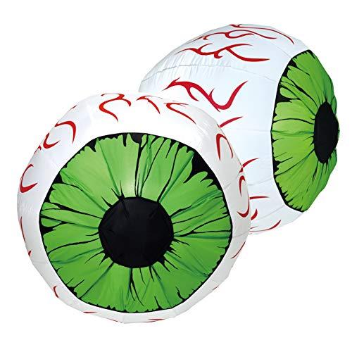 Joiedomi 2 Pack Huge Halloween Inflatable LED Light Up Eyeball Yard Decoration Outdoor Decor (3 ft Diameter)