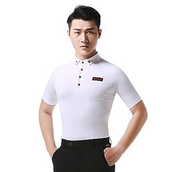 KUHU Camisa de Cuello para Hombre, Traje de Baile para ...