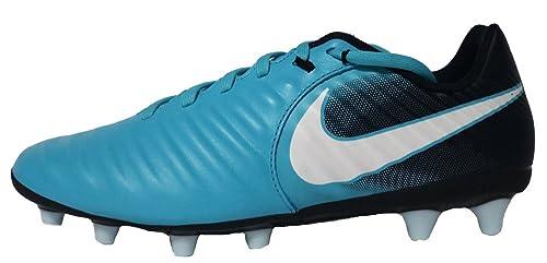 Nike - Botas de fútbol de Piel para Hombre Azul Azul: Amazon.es: Zapatos y complementos