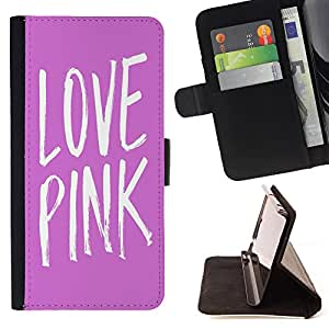 - Love Pink Heart - - Style PU Leather Case Wallet Flip Stand Flap Closure Cover FOR Apple Iphone 6 PLUS 5.5 - Devil Case -