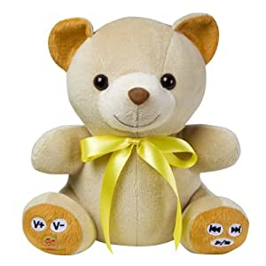 MP3 Player Teddy bear with yellow Ribbon