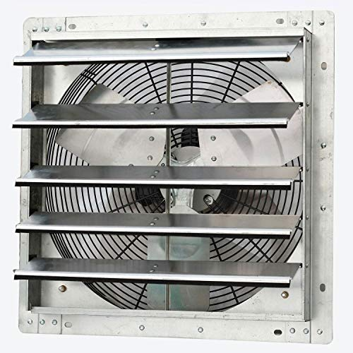 iLiving ILG8SF18V 18 Inch Variable Speed Wall Mounted Steel Shutter Exhaust Fan (2 Pack)