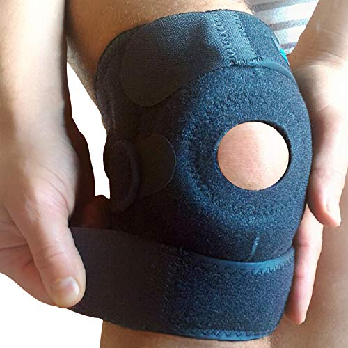 WITKEEN Knee Support Brace – Immediate Relief for Arthritis, Tendonitis, Sports, Sprains – Protects Against Further Knee Damage – Irritation Free Construction – Comfortable for Everyday Wear