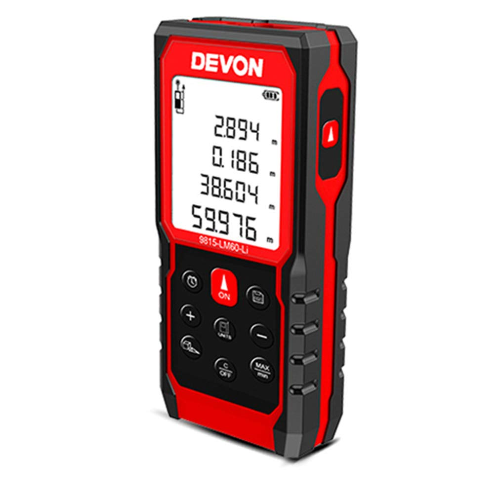 Rayuwen Rechargeable Handheld Laser Measure 60m Digital Tool Multiple Measurement Modes for Interior Design Engineering Construction by Rayuwen