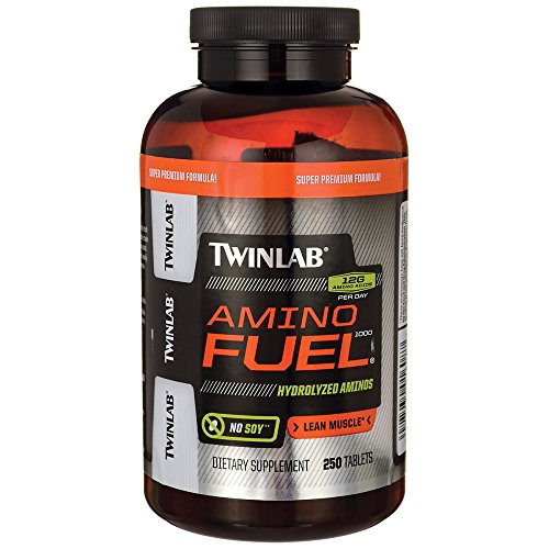 Twinlab Amino Fuel 1000 Body Building Amino Acids, Lean Muscle, 250 Tablets by Twinlab