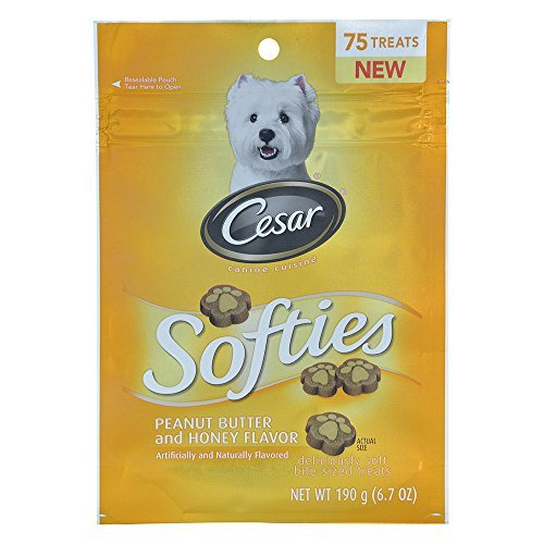CESAR Softies Peanut Butter and Honey Dog Treats 6.7 oz. 75 Treats by Cesar
