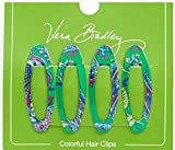 Gorgeous Vera Bradley Colorful Hair Clip Barretts in Emerald Paisley