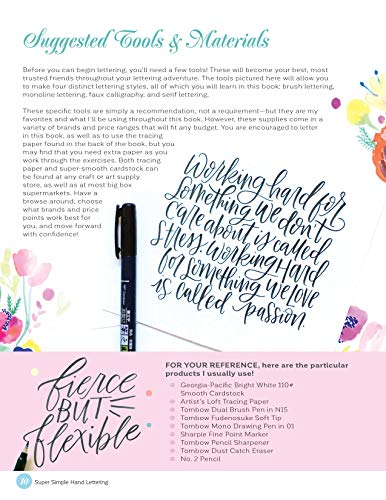 Super Simple Hand Lettering: 20 Traceable Alphabets, Easy