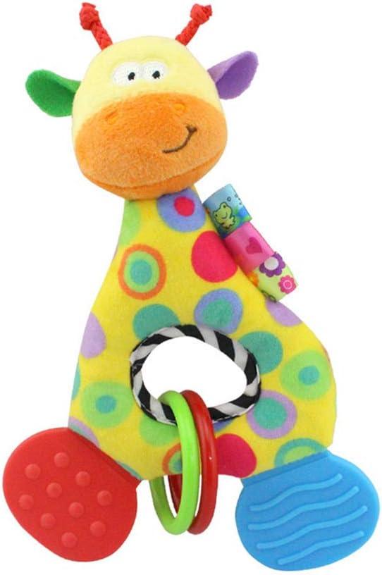 Ni/ño reci/én Nacido de beb/é Suave Instrumentos sensorial de Juguete Suave Lindo de la Felpa del traqueteo del Teether de Juguetes para la dentici/ón