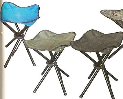 Amazon.com: Cuatro Legged Taburete de campamento plegable ...