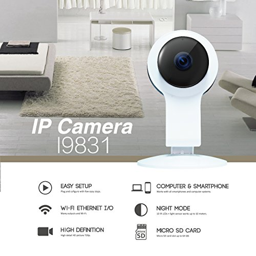 Wireless Wifi IP Security Camera 960P Indoor Home Surveillance System Baby Pet Monitor 2 Way Audio, Day/Night Vision Webcam (2) (Model B) by Kanstar (Image #1)