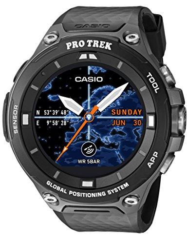 Casio Men's 'PRO TREK' Quartz Resin Outdoor Smartwatch, Color:Black (Model: WSD-F20-BKAAU)