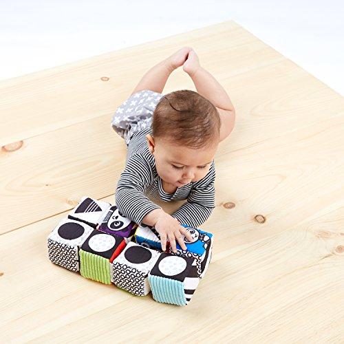51kaSlCtJvL - Baby Einstein Infinity Block High Contrast Soft Block Toy, Newborns and up