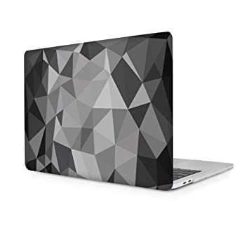 TwoL Carcasa MacBook Air 13 Pulgadas A1932, Carcasa Rígida Protector de Plástico para MacBook Air 13 2018 Versión Modelo A1932 Cristal Gris