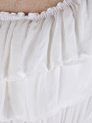 95fc9ac23fc02c Anna-Kaci Womens Boho Peasant Ruffle Stretchy Short Sleeve Maxi Long Dress