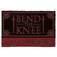 1art1 Game of Thrones Door Mat Floor Mat - Bend The Knee (24 x 16 inches)