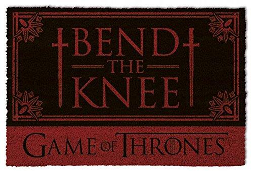 1art1 Game of Thrones Door Mat Floor Mat - Bend The Knee (24 x 16 inches) from 1art1
