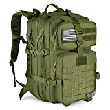 LeisonTac Tactical Backpack Military ISO Standard for Hunting Hiking Travel & Camping | Heavy Duty Nylon Stitching Water Resistant Small Rucksack with Hydration Bladder Compartment (O.D.Green)
