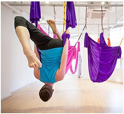 E-Bestar Aerial Yoga Hammock Set Anti gravit/à Yoga Swing Elastico Yoga Amaca Senza Cuciture Aerial Silks