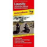 Lausitz, Sächsisches Elbland - Sächsische Schweiz: Motorradkarte mit Ausflugszielen, Einkehr- & Freizeittipps und Tourenvorschlägen, wetterfest, ... GPS-genau. 1:200000 (Motorradkarte / MK)
