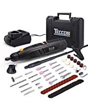 TECCPO Rotary Tool 170W/1.5 Amp 8,000-35,000RMP 5-Speed Variable Speed with Upgraded Flex Shaft, Universal 3-Jaw Chuck