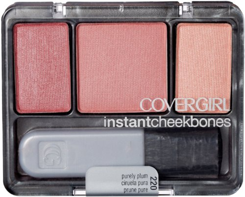 CoverGirl Instant Cheekbones Contouring Blush Purely Plum 220, 0.29-Ounce Pan Pack of 3