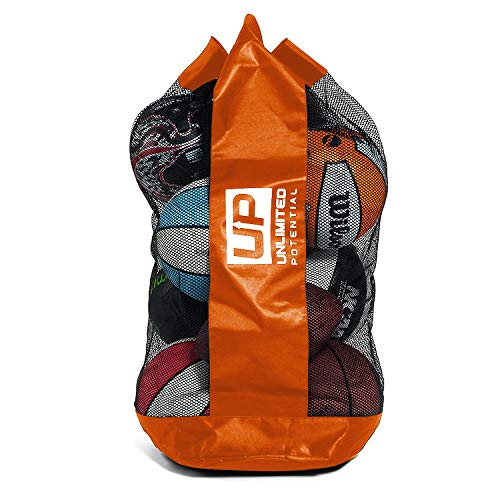 Unlimited Potential Mesh Equipment Bag - Adjustable, Sliding Drawstring Cord Closure. Perfect mesh Bag for Parent or Coach, Making it Easy to Transport and Keeping Your Sporting Gear -