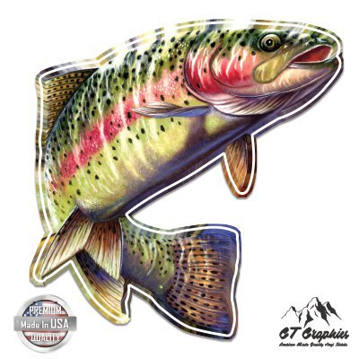 Full Graphics Hard Hat - GT Graphics Rainbow Trout Beautiful Full Color - 3