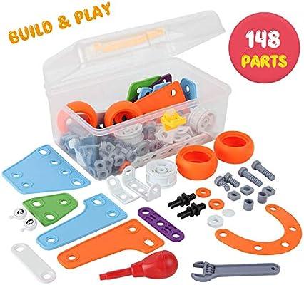 kupet 148 Stücke Bausteine Konstruktion Spielzeug, DIY
