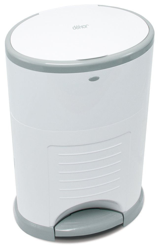 Done Just Step Dekor Classic Hands-Free Diaper Pail 20 Second Bag Change Most Economical Refill System Drop White Doesn/'t Absorb Odors Easiest to Use