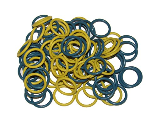 (100 Pack) Soft Stitch Ring Markers (Medium size for needle sizes 9-15, Includes 2 colors, for knitting/crochet/etc) - Jumbo Ring Markers