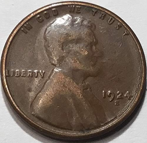 1924 S Lincoln Wheat Cent Penny Very Fine