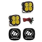 Baja Designs XL Sport LED Pair Driving Combo Amber Light Kit & Rock Guards Black