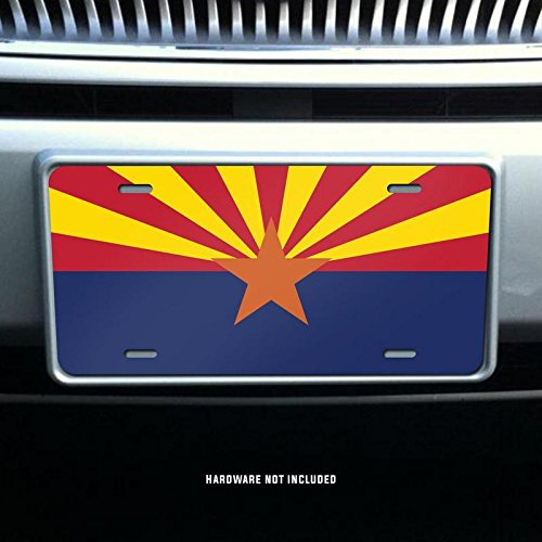 Arizona State Flag Vanity Front License Plate Tag Printed Full Color KCFP002 KCD