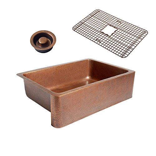 Sinkology K1A-1004-WG-D Adams Grid Combo and Disposal Copper Kitchen Sink