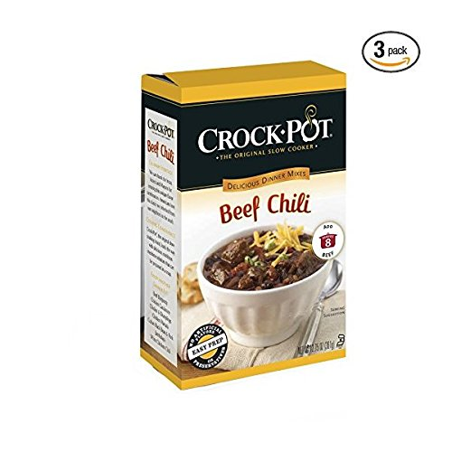 Crock-Pot Delicious Dinners, All Natural Beef Chili, Pack of 3 (Best Crockpot Beef Stew)