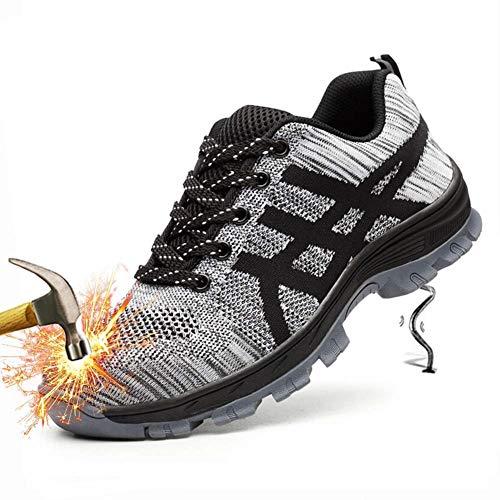 Travai Femme Acier Chaussure Gris 2 Chaussures Anti Sécurité Homme De Semelle perforation Tqgold Embout nWSIqPIR