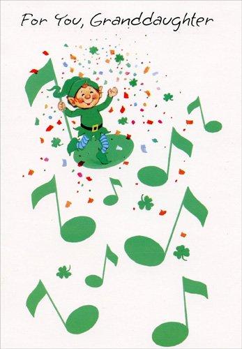 Amazon leprechaun musical notes granddaughter freedom leprechaun musical notes granddaughter freedom greetings st patricks day card m4hsunfo