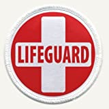 LIFEGUARD RED WHITE Fire and Rescue Heroes 2.5 inch Sew-on Patch