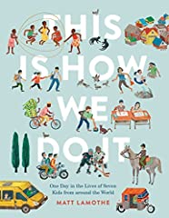 Follow the real lives of seven kids from Italy, Japan, Iran, India, Peru, Uganda, and Russia for a single day! In Japan Kei plays Freeze Tag, while in Uganda Daphine likes to jump rope. But while the way they play may differ, the shared rhyth...