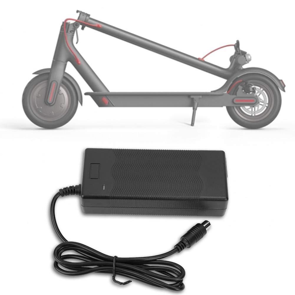 SolUptanisu Adaptador de Cargador para Scooter Eléctrico Piezas 42V 2A Cargador de Batería Accesorios para Xiaomi Mijia y Ninebot Scooter Eléctrico ...