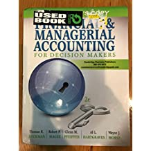 Amazon hartgraves and morse books financial managerial accounting for decision makers fandeluxe Image collections