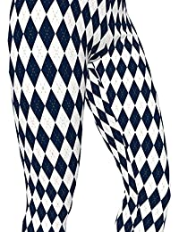 FIU Florida Inter. Blue / Gold, Argyle Pattern High Waist Womens Workout Tights
