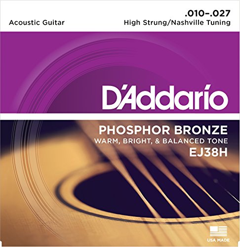 Dave Matthews Electric Guitar (D'Addario EJ38H Phosphor Bronze Acoustic Guitar Strings, High Strung/Nashville Tuning, 10-27)