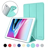 New iPad 2017 iPad 9.7 Inch Case, DTTO Ultra Slim Lightweight Smart Case Trifold Cover Stand with Flexible Soft TPU Back Cover for iPad Apple New iPad 9.7-inch [Auto Sleep/Wake] - Mint Green