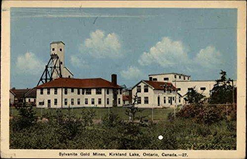 Sylvanite Gold Mines Kirkland Lake  Ontario Canada Original Vintage Postcard