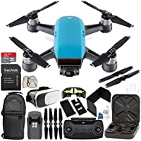 DJI Spark Portable Mini Drone Quadcopter (Sky Blue) + DJI Spark Remote Controller EVERYTHING YOU NEED Starter Bundle