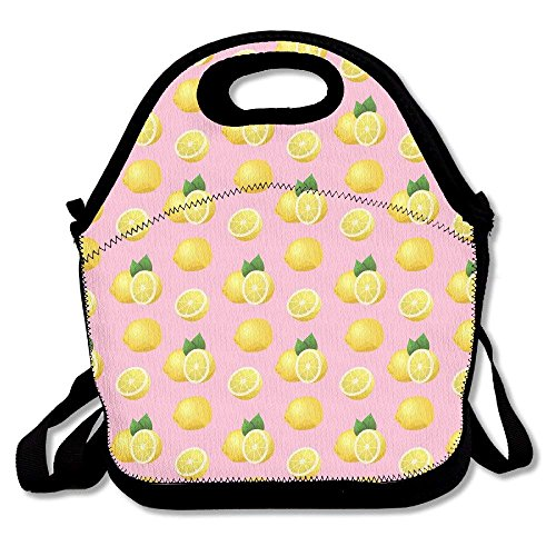 Lemon Pattern2 Handy Portable Zipper Lunch Box Lunch Tote Lunch Tote Bags