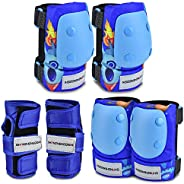 Skateboarding Knee Pads Elbow Pads Guards Protective Gear Set for Kids Youth, Wrist Guards Sports Protective G